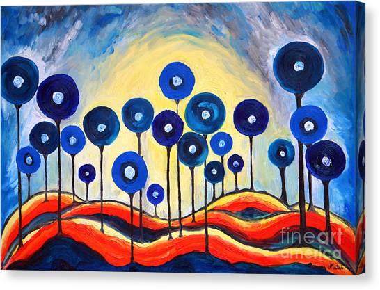 Abstract Blue Symphony  Canvas Print