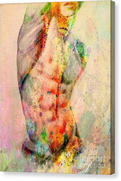 Bodybuilder Canvas Print - Abstract Body 5 by Mark Ashkenazi