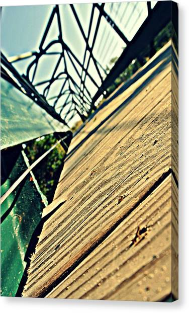 Disc Golf Canvas Print - Abstract Bridge by Dawdy Imagery