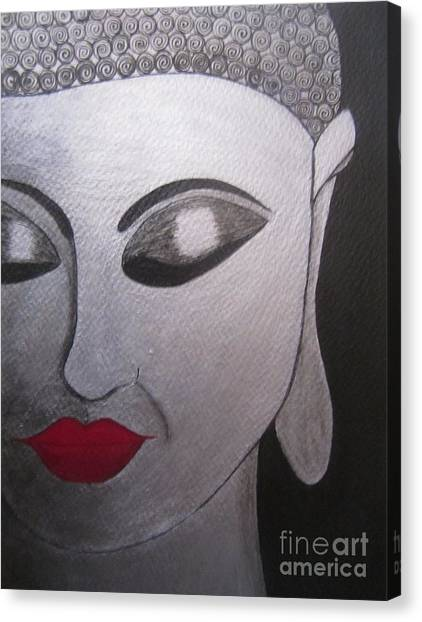 Abstract Buddha Canvas Print by Priyanka Rastogi