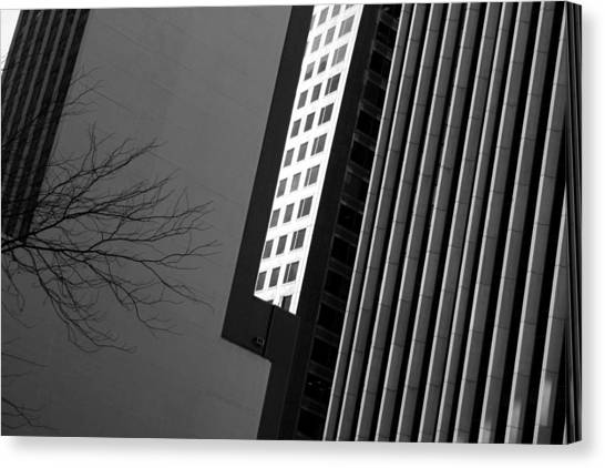 Abstract Building Patterns Black White Canvas Print