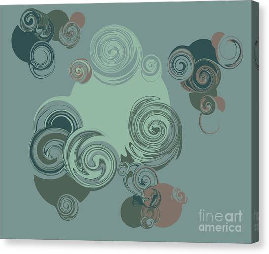 Elegance Canvas Print - Abstract Circles Pattern Background by Castecodesign