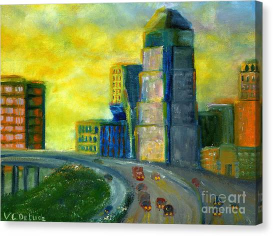 Abstract City Downtown Shreveport Louisiana Canvas Print