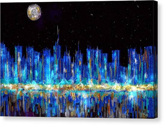 Abstract City Skyline Canvas Print