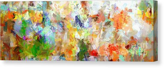 Abstract Collage Panorama Canvas Print