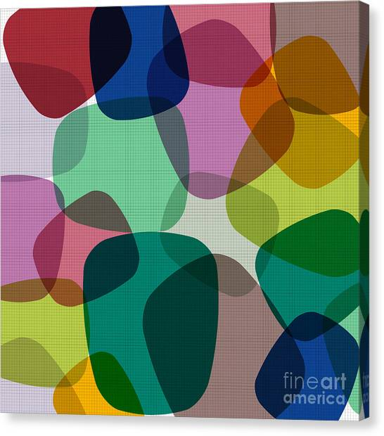 Purple Canvas Print - Abstract Colorful Background. Vector by Zeber