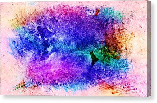 Purple Petals In Abstract Concept  Canvas Print
