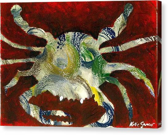 Abstract Crab Canvas Print