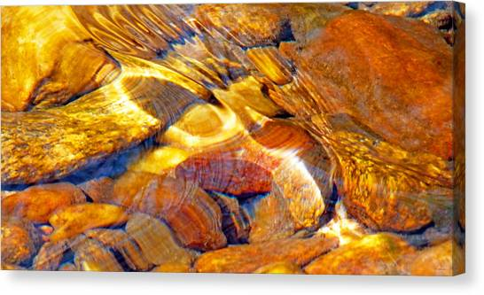 Abstract Creek Water 4 Canvas Print