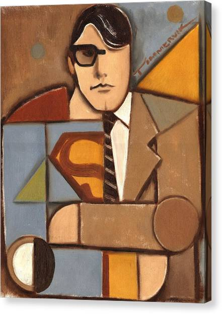Abstract Cubism Clark Kent Superman Art Print Canvas Print