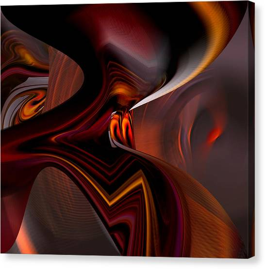 Abstract - Dark Passages Canvas Print