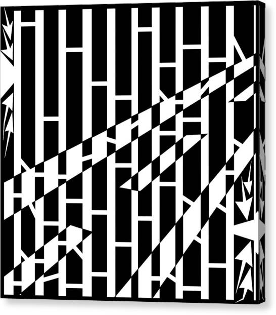 Abstract Distortion Driving Road Maze  Canvas Print by Yonatan Frimer Maze Artist
