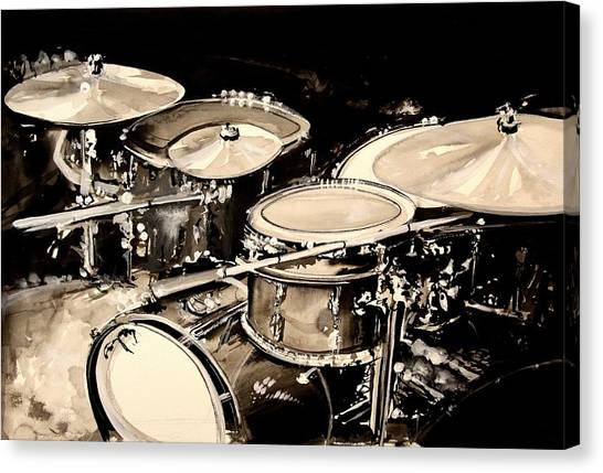 Percussion Instruments Canvas Print - Abstract Drum Set by J Vincent Scarpace
