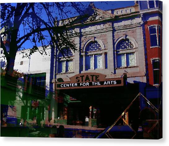 Abstract - Easton Pa - State Theater Center For The Arts Canvas Print by Jacqueline M Lewis