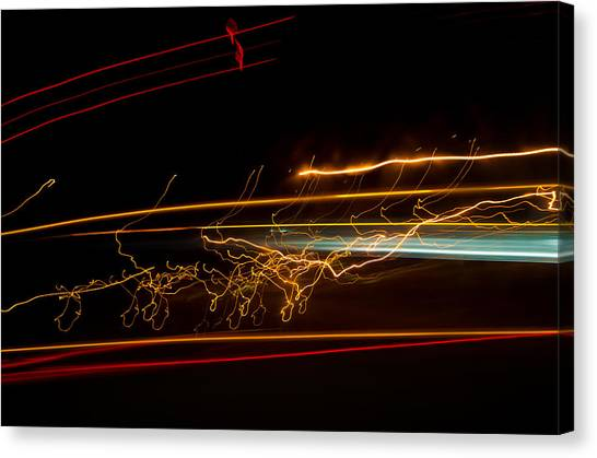 Abstract Evening Lights 1 Canvas Print by Chase Taylor