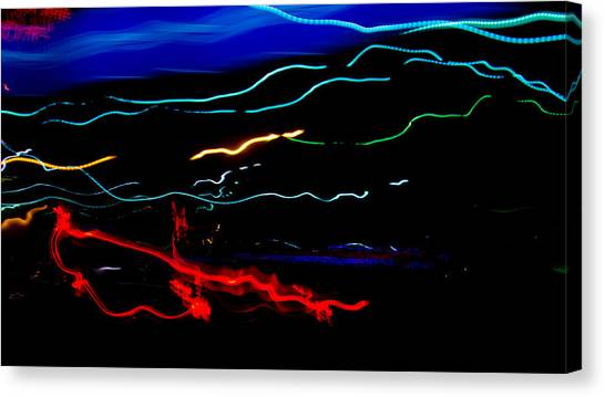 Abstract Evening Lights 2 Canvas Print by Chase Taylor