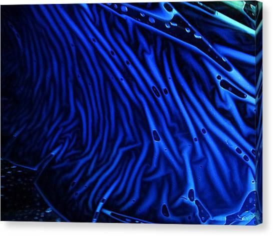 Abstract Experimental Chemiluminescent Photography Blue 1 Canvas Print