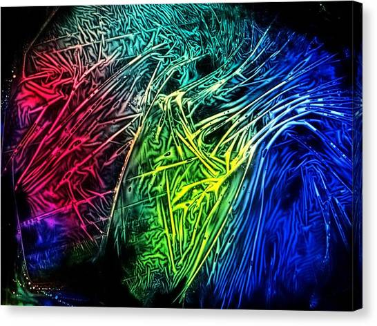 Abstract Experimental Chemiluminescent Photography Canvas Print