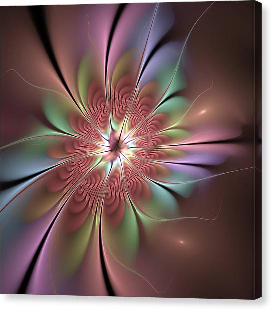 Bronce Canvas Print - Abstract Fantasy Flower by Gabiw Art