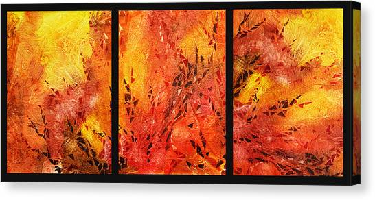 Abstract Fireplace Canvas Print
