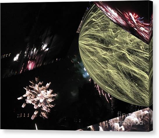 Abstract Firework - Ile De La Reunion - Reunion Island - Indian Ocean Canvas Print by Francoise Leandre