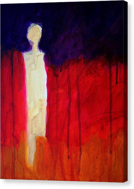 Apparition Canvas Print - Abstract Ghost Figure No. 1 by Nancy Merkle