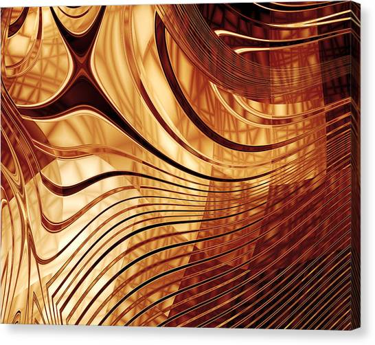Abstract Gold 2 Canvas Print