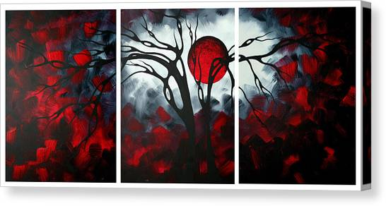 Canvas Print - Abstract Gothic Art Original Landscape Painting Imagine By Madart by Megan Duncanson