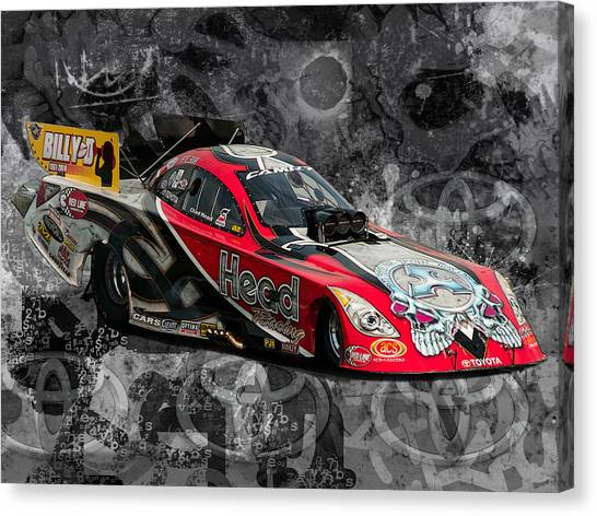 Toyota Cars Canvas Print   Abstract Head Racing By Chris Sarenana