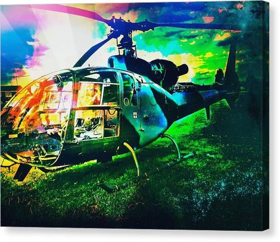 Helicopters Canvas Print - Abstract Helicopter  by Chris Drake