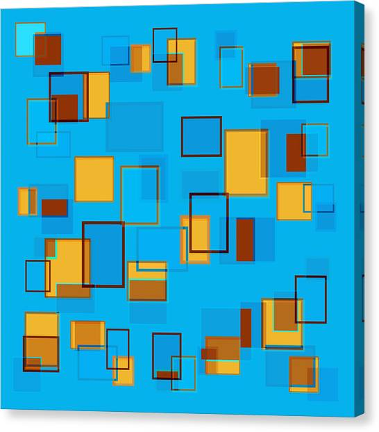 Rectangular Canvas Print - Abstract In Beach Color Scheme by Frank Tschakert