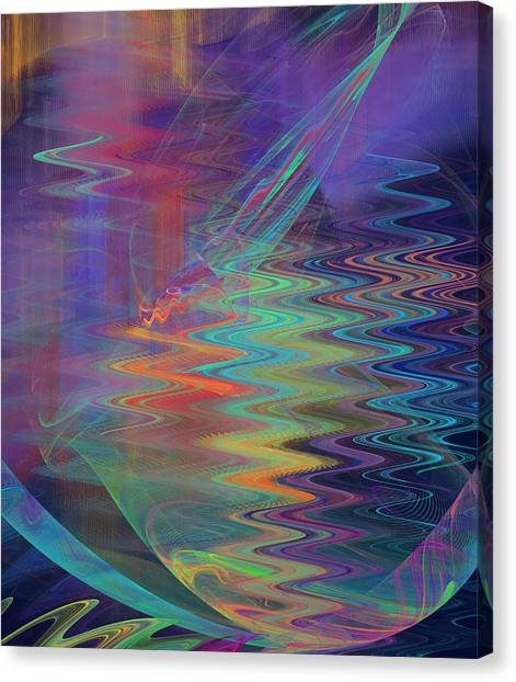 Abstract In Blue And Purple Canvas Print