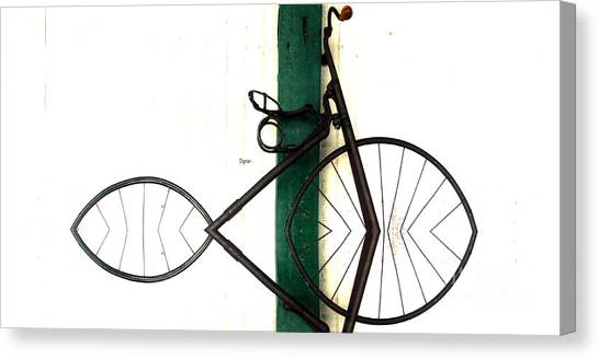 Abstract In Geometric Velocipede  Canvas Print by Steven Digman