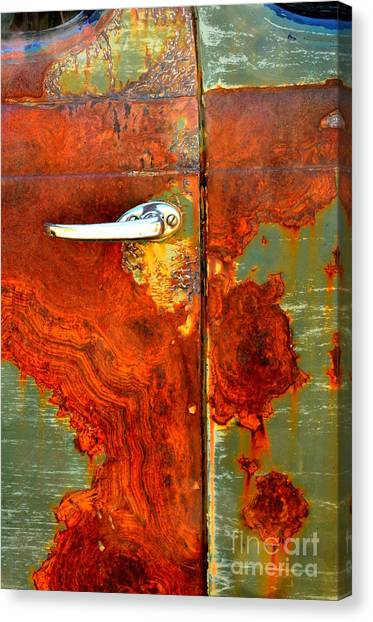 Abstract In Rust 24 Canvas Print