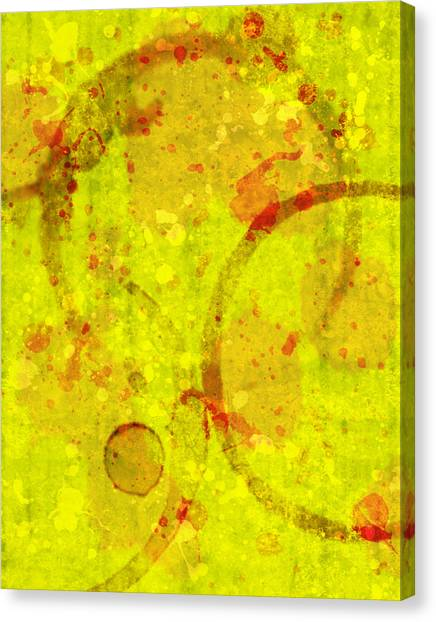 Abstract Ink And Water Stains Canvas Print