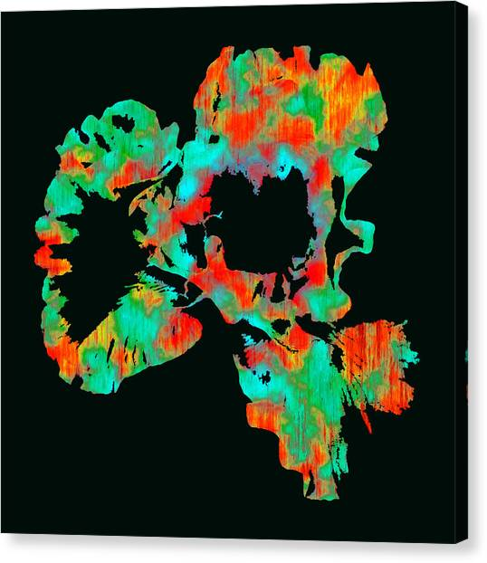 Abstract Iris Canvas Print by James Hammen