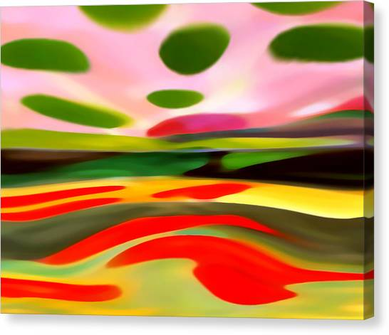 Abstract Landscape Of Happiness Canvas Print