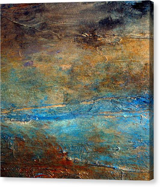Rustic Abstract Landscape Painting Canvas Print