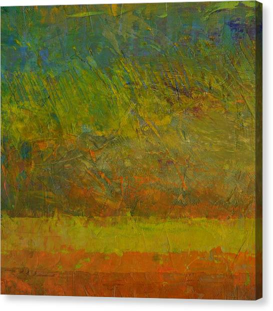 Abstract Landscape Series - Golden Dawn Canvas Print