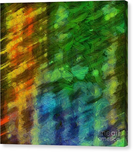 Aspect Canvas Print - Abstract Lines 10 by Edward Fielding