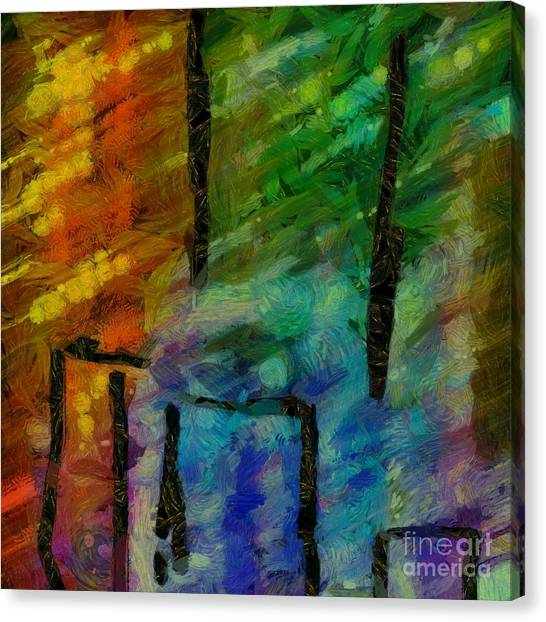 Aspect Canvas Print - Abstract Lines 11 by Edward Fielding