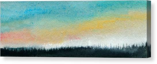 Abstract Minimalist Horizon Canvas Print