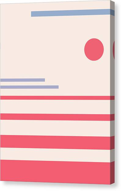 Abstract Minimalistic Landscape Canvas Print