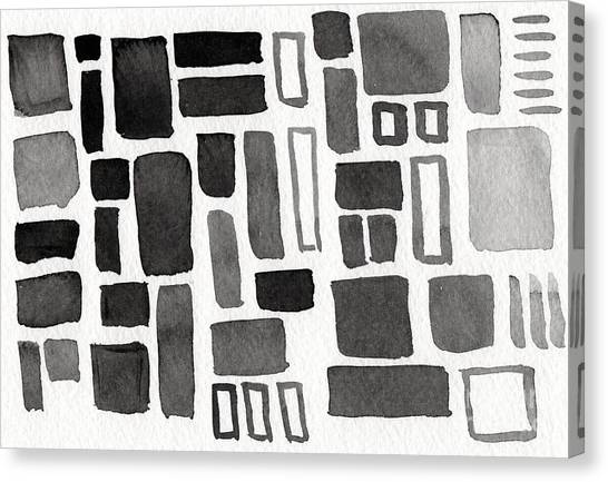 Rectangles Canvas Print - Abstract Open Windows by Linda Woods