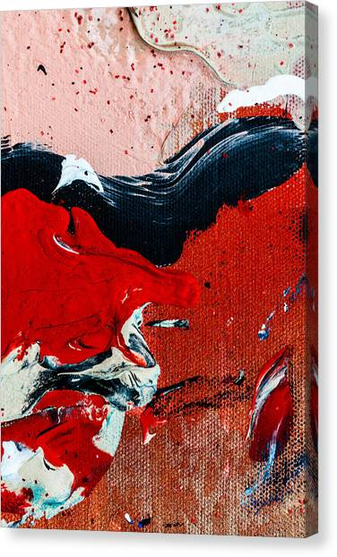 Abstract Original Artwork One Hundred Phoenixes Untitled Number Four Canvas Print
