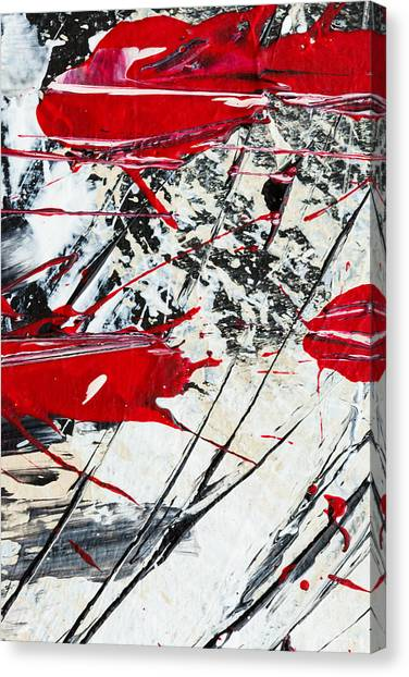 Abstract Original Painting Untitled Ten Canvas Print
