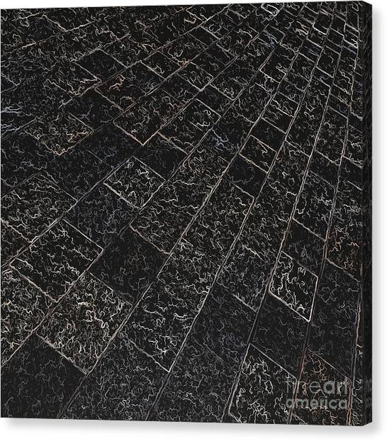 Abstract Path With Dark Background Canvas Print by Ken Schulze