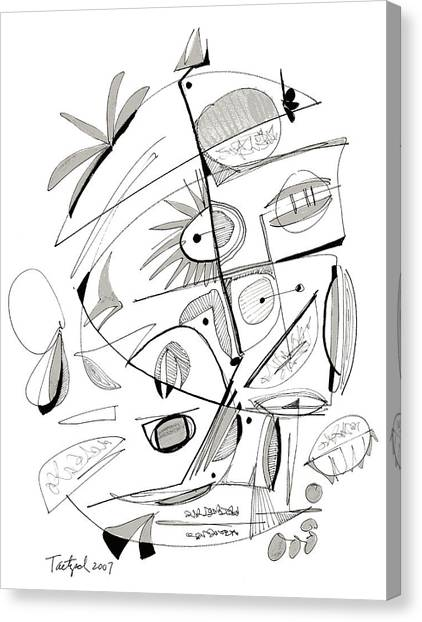 Abstract Pen Drawing Sixty-seven Canvas Print