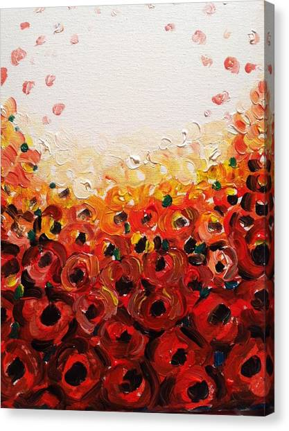 Abstract Poppies 2 Canvas Print