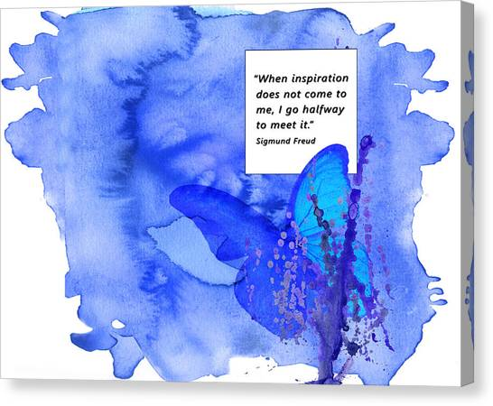 Abstract Quote 2 Canvas Print